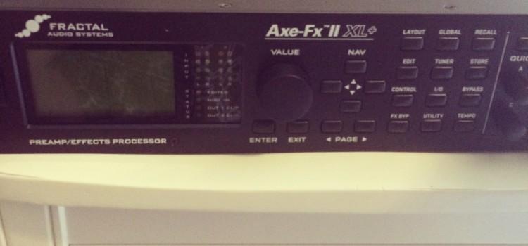 TWEAKIN' THE AXE FX II XL+